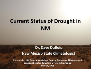 Current Status of Drought in New Mexico - the National Drought ...