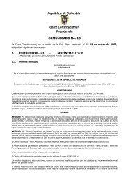 República de Colombia Corte Constitucional Presidencia - Camacol