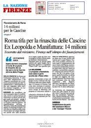 Finanziamento da Roma 14 milioni per le Cascine - Comune di ...