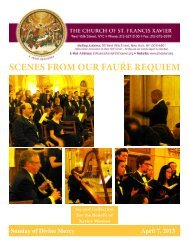 SCENES FROM OUR FAUŔE REQUIEM - Church of St. Francis Xavier