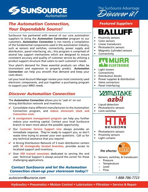 The Automation Connection, Your Dependable Source! - Sun Source