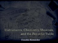 Instruments, Chemistry, Minerals, and the Periodic ... - Stardust-NExT