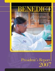 President's Report 2007 - Benedict College