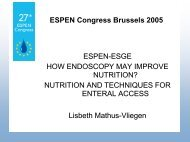 indications for endoscopic positioning of feeding tubes - ESPENs