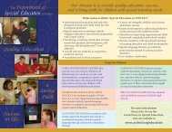 Department of Special Education - Archdiocese of St. Louis