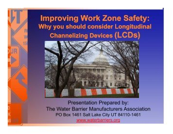 PDF version - National Work Zone Safety Information Clearinghouse