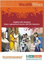 Wealth Trends - October 2010 PDF - IDBI Federal Life Insurance