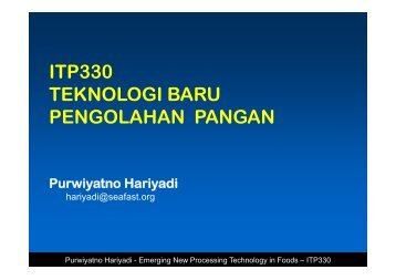 ITP330-Emerging New Food Processing Technology