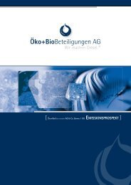 [ Öko+BioBeteiligungen AG & Co. BAyern 1 kG ... - Samuel Begasse