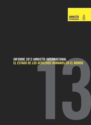 Informe 2013 Amnistía Internacional - Programa de Equidad de ...