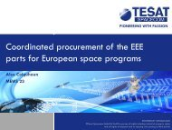 Coordinated procurement of the EEE parts for European space ...
