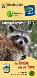 Jahresprogramm 2012 - Naturpark Rhein-Westerwald