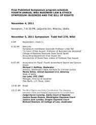 Final Published Symposium program schedule FOURTH ANNUAL ...