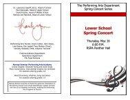 Lower School Spring Concert - Ranney School