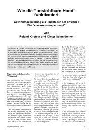 """Wie die """"unsichtbare Hand"""" funktioniert - Universität des Saarlandes"""