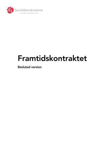 Framtidskontraktet - Socialdemokraterna