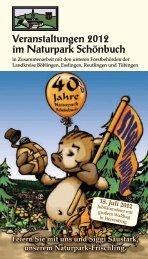 Veranstaltungen 2012 im Naturpark Schönbuch