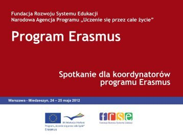 Zasady alokacji - Erasmus