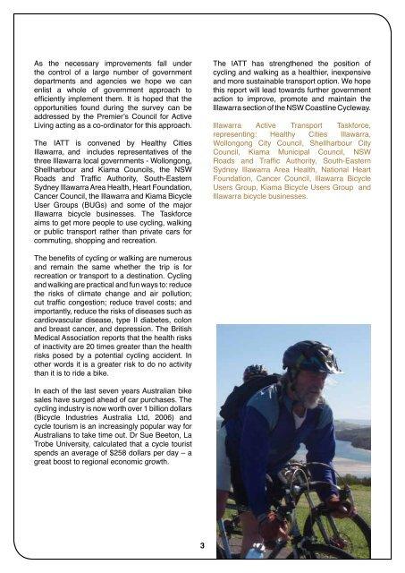 NSW Coastline Cycleway 2010 Illawarra Survey - Healthy Cities ...