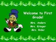 First Grade Power Point - Fall Creek School District
