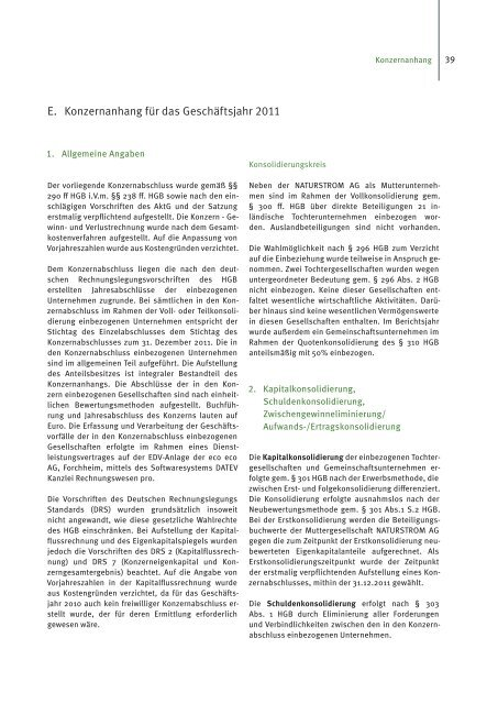 Geschäftsbericht 2011 - Naturstrom