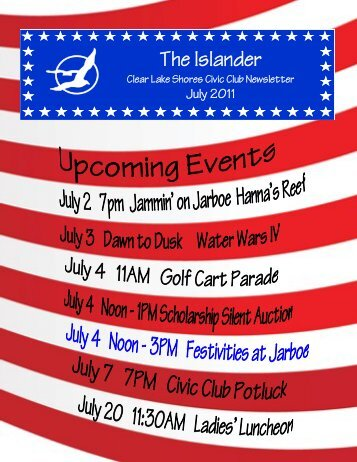 The Islander - Clear Lake Shores Civic Club
