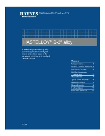 HASTELLOY® B-3® alloy - Haynes International, Inc.