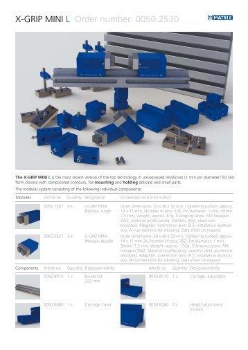 X-GRIP MINI L Order number: 0050.2530 - Matrix GmbH