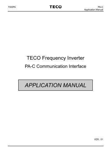 Teco vfd manual