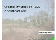 A Feasibility Study on REDD in Southeast Asia