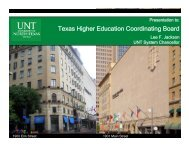 Texas Higher Education Coordinating Board - University of North ...