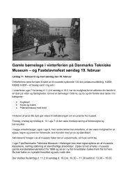 og Fastelavnsfest søndag 19. februar - Danmarks Tekniske Museum