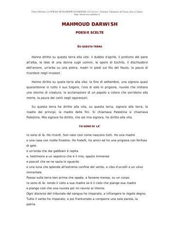 Mahmoud Darwish: Poesie scelte - Centro Studi e Ricerche Aleph