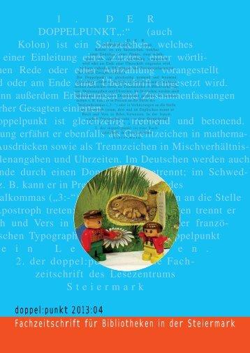finden Sie die Ausgbabe als PDF! - Lesezentrum Steiermark