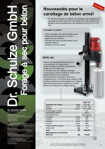Forage à sec pour béton - Dr. Schulze GmbH