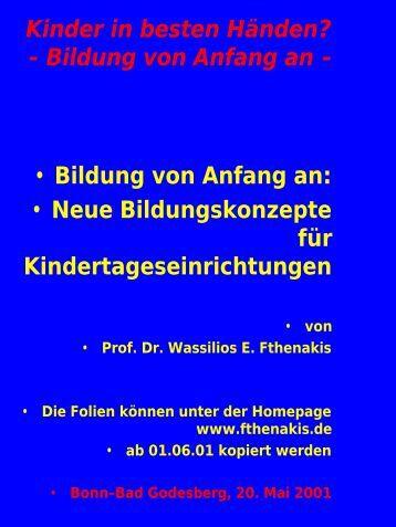 Bildung von Anfang an - Wassilios E. Fthenakis