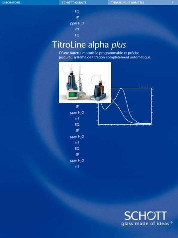 TitroLine alpha plus - SI Analytics GmbH