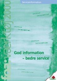 God information – bedre service - FOA