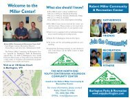 Welcome to the Miller Center! - Burlington Parks and Recreation