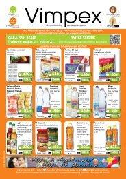 2013/05. szám Nyitva tartás: - Vimpex Drink