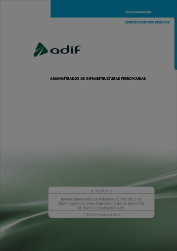 TRANSFORMADORES POTENCIA SECOS LC - Adif