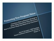 Promoting Your Program Value: Creating a How-to ... - ACCED-i