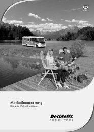 Matkailuautot - Hinnasto ja teknilliset tiedot 2013 - Dethleffs