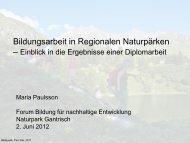 Maria Paulsson, Geografisches Institut der Universität Bern