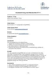 Kursbeskrivning med litteraturlista HT-08 - Institutionen för franska ...