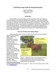 Predicting Forage Intake by Grazing Ruminants - Florida Dairy ...