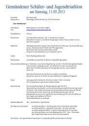 Ausschreibung Triathlon_Schüler_2013 - Triathlon Team Gemünden