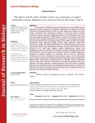 Prevalence and the effect of plant extracts on community associated methicillin resistant Staphylococcus aureus in Owerri, Imo State, Nigeria
