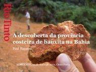 A descoberta da província costeira de bauxita na Bahia - ADIMB