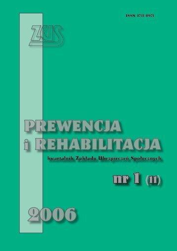 Prewencja i rehabilitacja nr 1/2006 (11) (2,47MB)